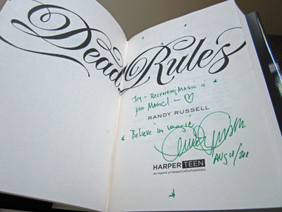photo of Dead Rules signed by Randy Russell