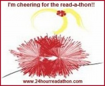 Cheer button for Dewey's 24 Hour Read-a-Thon