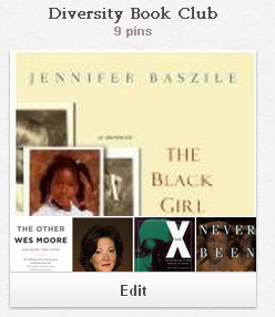 screen clip of Diversity Book Club board from Pinterest
