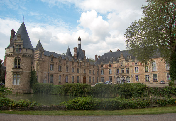 Chateau d'Esclimont -- the first hotel we stayed at in France during our garden tour.