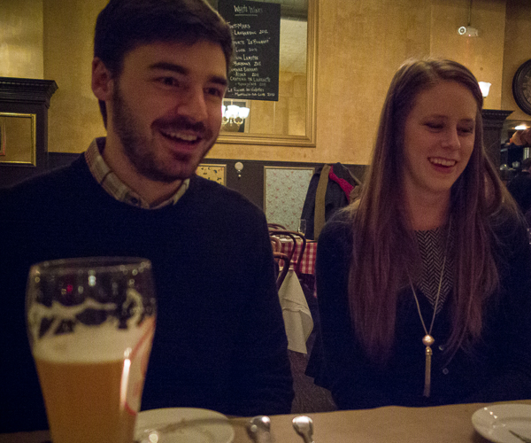 photo of Phil and Gabbi at Brasserie by Niche