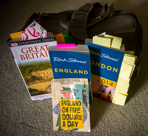Travel Guidebooks to Great Britain, England, and London