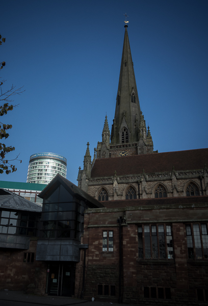 St Martin in the Bull Ring and the Rotunda, Birmingham