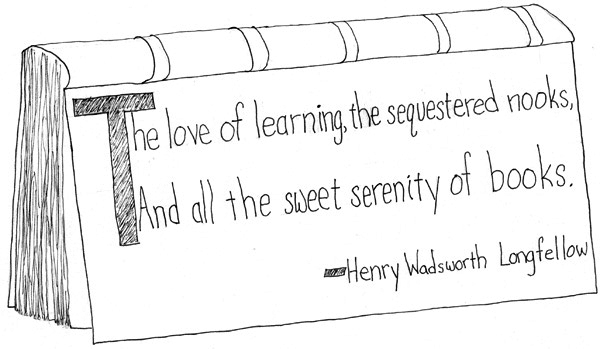 Illustrated Henry Wadsworth Longfellow quote
